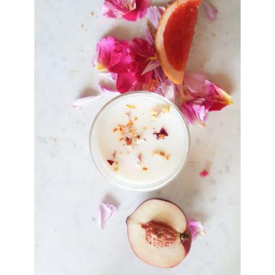 Pivoine et Nectarine - Bougie parfumée en cire végétale Les essentielles