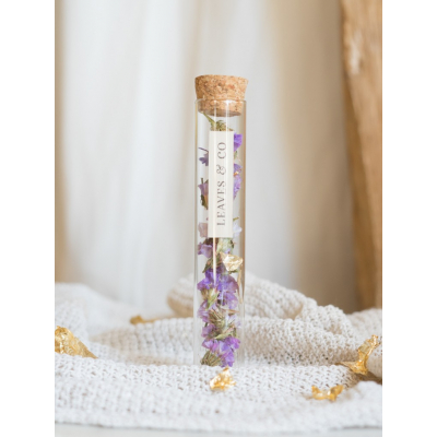 Fiole décorative de fleurs séchées - Limonium Fioles fleuries