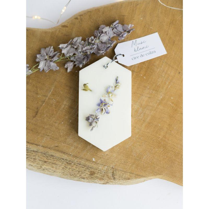 Musc blanc Tablette de cire parfumée Tablette de cire parfumée fleurie