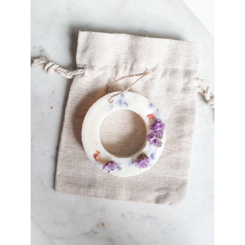 Fleur sauvage et sel marin Anneau de cire parfumée Tablette de cire parfumée fleurie