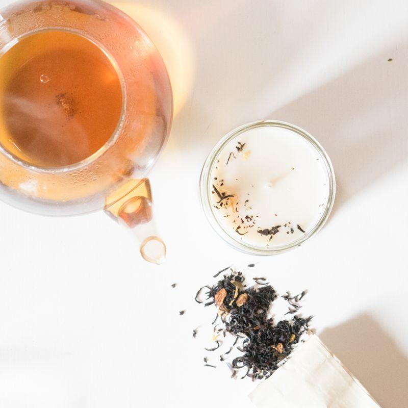 Thé bergamote Bougie parfumée  Pot de saison Les pots de saison