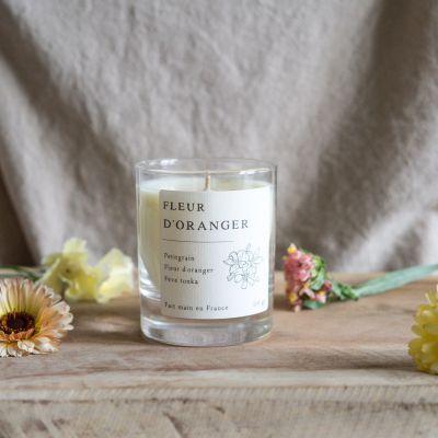 Fleur d'oranger Bougie parfumée cire de colza Les essentielles