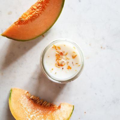 Melon Bougie parfumée Pot de saison Les pots de saison