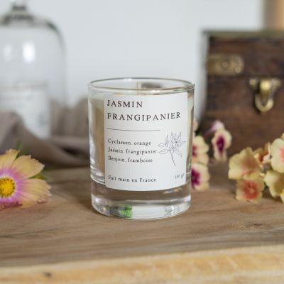 Jasmin frangipanier Bougie parfumée cire de colza Les essentielles