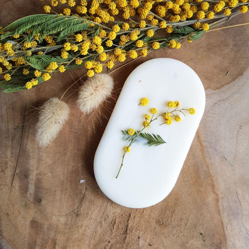 Mimosa Tablette de cire parfumée Tablette de cire parfumée fleurie
