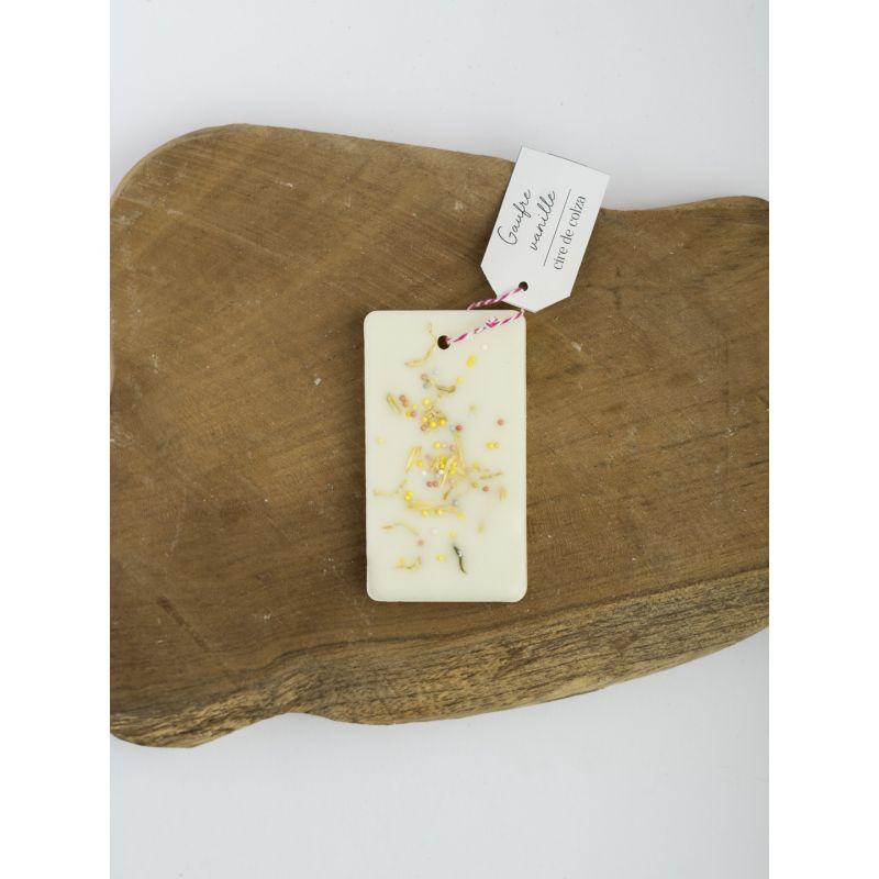 Gaufre vanille - Tablette de cire parfumée Accueil