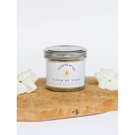 Bougie parfumée Fleur de tiaré - Petit pot à couvercle