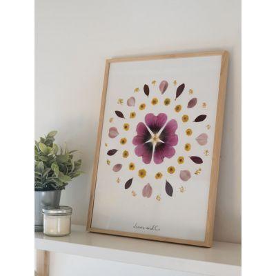 Herbier de fleurs séchées - Rose trémière Décoration florale