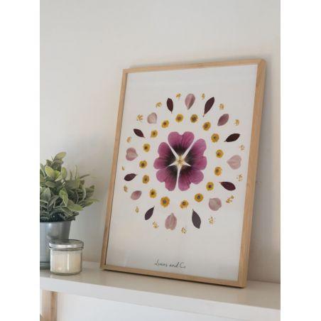 Herbier de fleurs séchées - Rose trémière