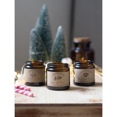 Coffret cadeau, trois bougies parfumées de Noël Boutique de Noël